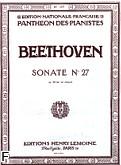Okładka: Beethoven Ludwig van, Sonate No 27 Op.90 en mi mineur