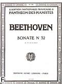 Okładka: Beethoven Ludwig van, Sonate No 32 Op.111 en ut mineur
