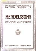 Ok�adka: Mendelssohn-Bartholdy Feliks, Romance N�30 : Chanson de Printemps