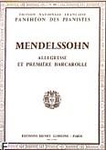 Ok�adka: Mendelssohn-Bartholdy Feliks, Romanse nr 6:Allegresse et Premiere Barcarolle