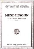 Ok�adka: Mendelssohn-Bartholdy Feliks, Variations s�rieuses op.54