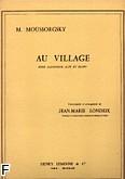 Okładka: Musorgski Modest, Au Village - Sax. et Piano
