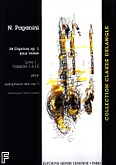 Ok�adka: Paganini Niccolo, Caprices Op.1 N�1 a 12 - solo Trans. VADROT