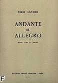 Okładka: Lantier Pierre, Andante et Allegro