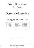 Okładka: Offenbach Jacques, Cours Duos Violoncelles, Op.50 Livre 2
