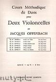 Okładka: Offenbach Jacques, Cours Duos Violoncelles Op.51 Livre 2