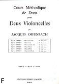 Ok�adka: Offenbach Jacques, Cours Duos Violoncelles, Op.51 Livre 3