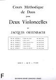 Ok�adka: Offenbach Jacques, Cours Duos Violoncelles, Op.54 Livre 1