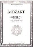 Okładka: Mozart Wolfgang Amadeusz, Sonate No 4 en mi mineur - Violon et Piano