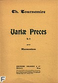 Ok�adka: Tournemire Charles, Variae pieces op. 12
