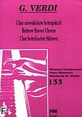 Okładka: Verdi Giuseppe, Chór niewolników hebrajskich na fortepian (solo)