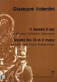 Okładka: Valentini Giuseppe, X Sonata E-dur na altówkę i fortepian (lub klawesyn)