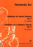Okładka: Sor Fernando, Wariacje na temat Mozarta op. 9 (głosy)