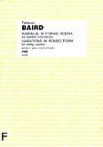 Ok�adka: Baird Tadeusz, Wariacje w formie ronda (na kwartet smyczkowy) (partytura+g�osy)