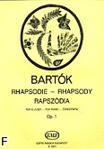 Ok�adka: Bart�k B�la, Rapsodia op. 1