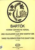 Ok�adka: Bart�k B�la, Trzy piosenki ludowe