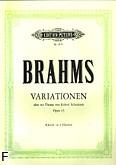 Okładka: Brahms Johannes, Wariacje na temat Roberta Schumanna op. 23
