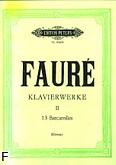 Ok�adka: Faur� Gabriel, Utwory fortepianowe 13 Barcarolle