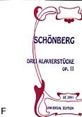 Okładka: Schönberg Arnold, 3 utwory op. 11