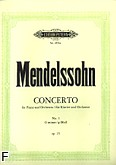 Okładka: Mendelssohn-Bartholdy Feliks, Koncert fortepianowy g-moll, op. 25 (Peters)