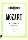 Ok�adka: Mozart Wolfgang Amadeusz, Koncert A-dur KV 488 na fortepian i orkiestr� (wyc. fort.)
