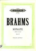 Okładka: Brahms Johannes, Sonata e-moll op. 38