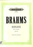 Okładka: Brahms Johannes, Sonata F-dur op. 99 (Peters)