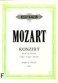 Ok�adka: Mozart Wolfgang Amadeusz, Koncert C-dur KV 467 na fortepian i orkiestr� (wyc. fort.)