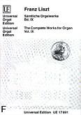 Okładka: Liszt Franz, Utwory organowe z. 9