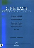 Okładka: Bach Carl Philipp Emmanuel, Koncerty na klawesyn i smyczki d-moll BWV 1052a