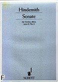 Okładka: Hindemith Paul, Sonata op. 31 nr 2