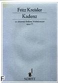 Ok�adka: Kreisler Fritz, Kadencja do koncertu skrzypcowego op. 77 J. Brahmsa