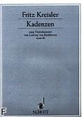 Ok�adka: Kreisler Fritz, Kadencje do koncertu skrzypcowego op. 61 L. van Beethovena