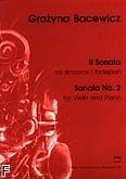 Ok�adka: Bacewicz Gra�yna, II Sonata
