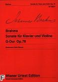Okładka: Brahms Johannes, Sonaty na fortepian i skrzypce: G-dur op. 78