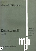 Ok�adka: G�azunow Aleksander, Koncert a-moll op. 82 na skrzypce i orkiestr�