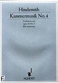 Ok�adka: Hindemith Paul, Kammermusik nr 4 op. 36 nr 3 na skrzypce i orkiestr� kameraln� (wyc.fort.)