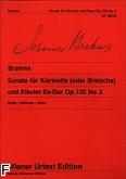 Okładka: Brahms Johannes, Sonata Es-dur op. 120
