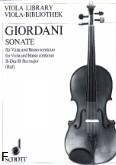Okładka: Giordani Tommaso, Sonata B-dur na altówkę, fortepian i b.c.