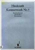 Ok�adka: Hindemith Paul, Kammermusik nr 5 op. 36 nr 4 na alt�wk� i fortepian