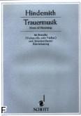 Ok�adka: Hindemith Paul, Trauermusik na alt�wk� i fortepian