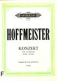Okładka: Hoffmeister Franz Anton, Koncert D-dur na altówkę i orkiestrę (wyc.fort.)