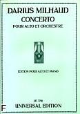 Ok�adka: Milhaud Darius, Koncert na alt�wk� i fortepian