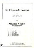 Okładka: Vieux Maurice, 6 etudes de concert, Etiuda cis-moll