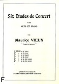 Okładka: Vieux Maurice, 6 etudes de concert, Etiuda fis-moll