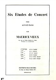 Okładka: Vieux Maurice, 6 etudes de concert, Etiuda f-moll