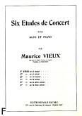 Okładka: Vieux Maurice, 6 etudes de concert, Etiuda G-dur