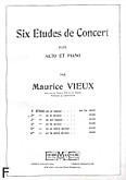 Okładka: Vieux Maurice, 6 etudes de concert, Etiuda h-moll
