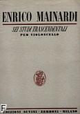 Okładka: Mainardi Enrico, Sei studi transcendentali
