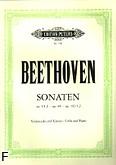 Ok�adka: Beethoven Ludwig van, Sonaty F-dur i g-moll op. 5, Sonata A-dur op. 69, Sonaty C-dur i D-dur op. 102